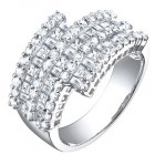 2.35CT Diamond Fashion Ring on 14K White Gold.