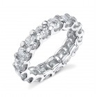 Diamond Eternity Band Ring on 18K White Gold.