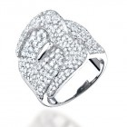 2.70CT Diamond Belt Ring on 14K White Gold.