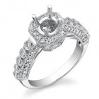 0.95CT Diamond Semi-Mount Ring on 18K White Gold.