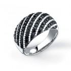 1.60CT Black & White Diamond Ring on 14K White Gold.